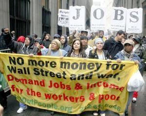 Protestas en Wasll Street