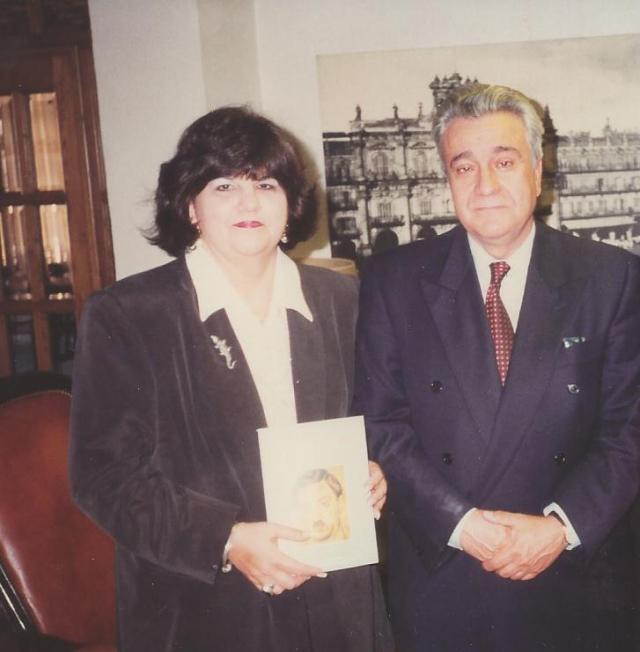 Uva de Aragón y Alberto Sánchez Álvarez-Insúa, Salamanca, 1996