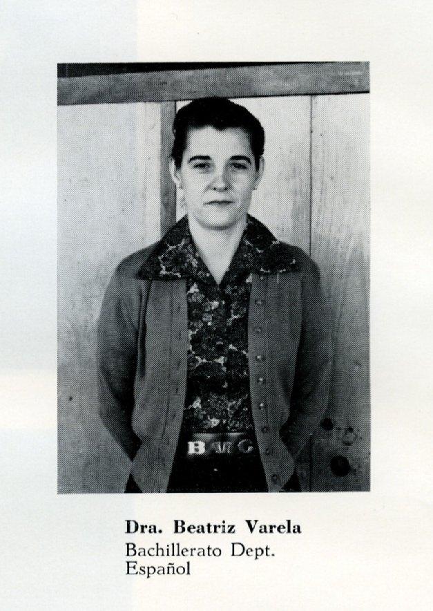 Beatriz Varela, Ruston Academy, 1960