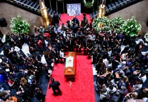 Funerales de Carlos Fuentes, Bellas Artes, Mèxico, 2012