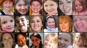Algunas de las víctims de Newton, Connecticut