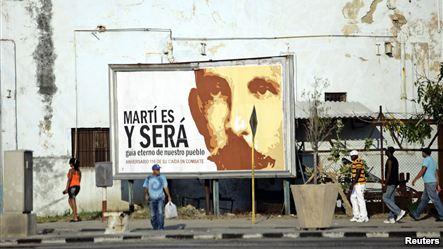 Valla de Martí en Cuba