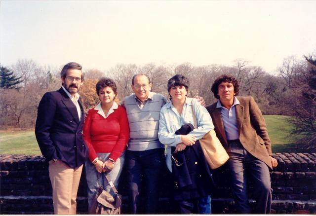 Orlando Rossardi, Rita Geada, José Ignacio Rasco, Uva de Aragón y Reinald Arenas, Rutgers University, 1988