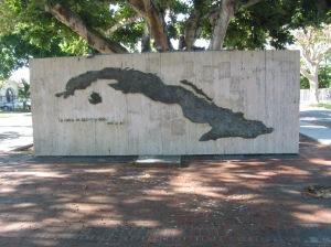 Mural de la Isla de Cuba en la La Pequeña Habana en Miami