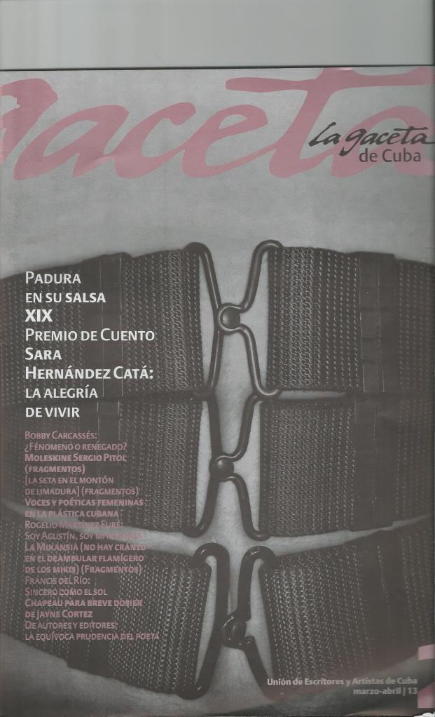 Portada de La Gaceta de Cuba