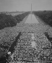 """La multitud congregada el 28 de agosto de 1963 que escuchó el famoso discurso de Martin Luthr King, Jr. """"I have a dream"""""""