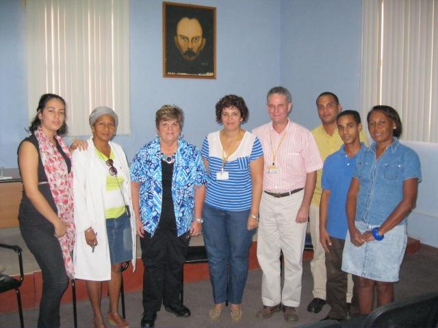 Con los investigadores del Archivo Nacional