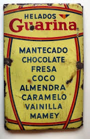 Anuncio de helados Guarina, muy populares durante mi infancia habanera