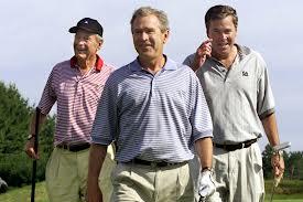 Los dos ex presidents Bush, y Jeb Bush