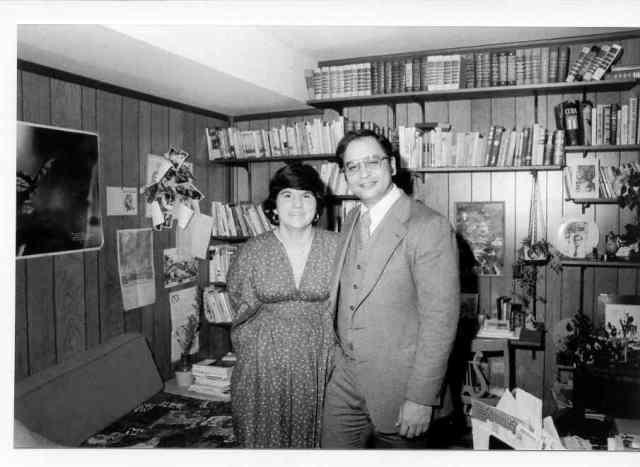 Con Marcelo Fernández Zayas en mi casa en Rockville, Md., circa 1975