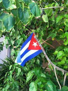 La bandera cubana presidio el acto