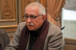 El poeta y editor Pío E. Serrano, organizador del acto