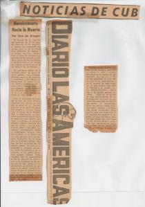 El primer artículo que publiqué en Diario Las Americas en 1961