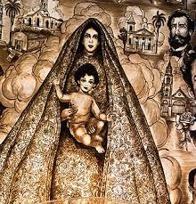 Imagen de la Virgen de la Caridad en la Ermita de Miami