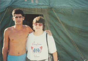 Con mi primo José Miguel González Sosa