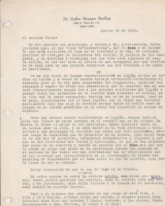 Carta de mi Carlos Marquez Sterling, 1955