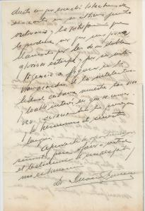 Carta del Profesor Fonseca. página 2