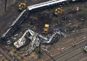 Impresionante imagen del choque del tren de Amtrak