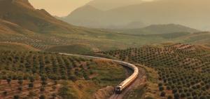 Tren el Alandus em tierras de Jaen. También eché de menos los paisajes de la Madre Patria