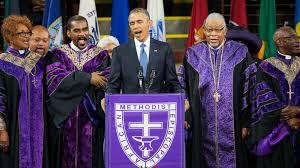 """La imagen del Presidente Obama cantando  """"Amazing Grace"""" pasará a la historia"""