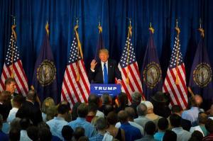 Donald Trump en Manchester, N.H. el 17 de junio de 2015