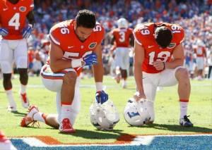 Cristian Garcia, No. 56 del equipo de los Gators de la Universidad de la Florida (UF)