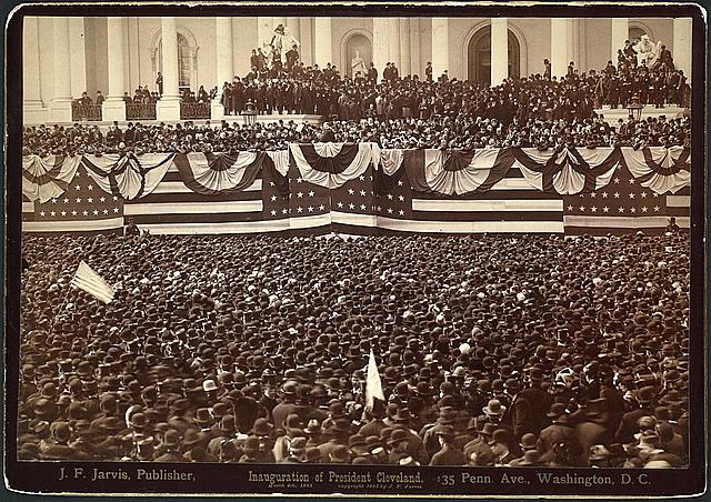 A la investidura de Grosvenor Cleveland como Presidente el 4 de marzo de 1885 acudió una multitud sin precedentes