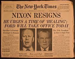 El Presidente Nixon se vio forzado a renunciar