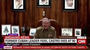 Raul Castro anuncia la muerte de su hermano Fidel