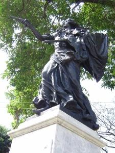 Monumento a Eulalia Ramos Sánchez, en Barcelona, Venezuela